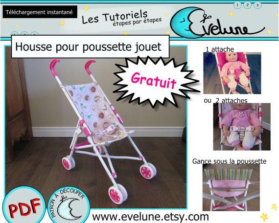 Patron housse pour poussette jouet / relooking poussette de poupée / poussette pour enfant / Gratuit (voir la description) !!!