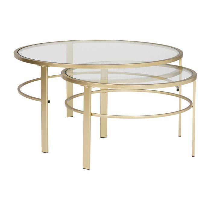 Studio Designs Home Corbel Round Nesting 2 Piece Coffee Table Set