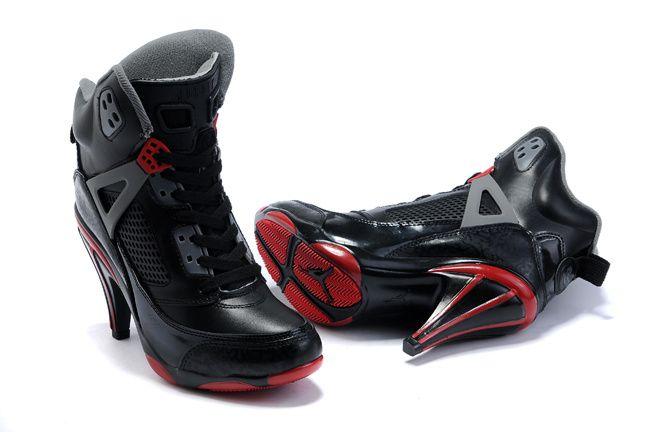 All Girl Jordan Shoes | Girls Air Jordan Spiz\u0026#39;ike High Heel All Black Red Shoes [AJ ... | Micheal Jordan shoes!!\u003dD | Pinterest | Jordan Shoes Girls, ...