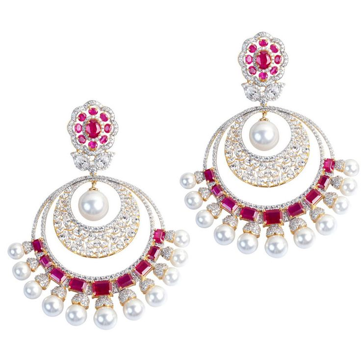 Pearl Drop Chand Bali  Product Code : ADERL140003  Type : Red Hydro, Pearl, Swarovski  Color :Red  #SilverEarringsOnlineShopping  #SilverEarringsOnlineIndia  #SilverEarringsIndia    #SilverEarringsOnline  #BuySilverEarringsOnline   #SilverEarringsForWomen  #SilverEarring #DesignerSilverEarrings   #BuySilverEarrings  #SilverEarrings  #Earrings