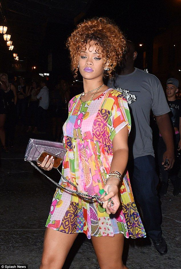Rihanna shows off long legs in shift dress on night out with Katy Perry | Daily Mail Online