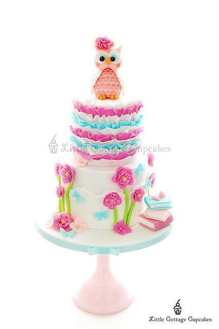 Торт для малышки с совушкой | 57 фотографий
