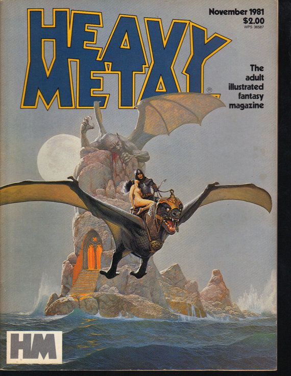 HEAVY METAL Magazine November 1981  Illustrated by psychoactiveart