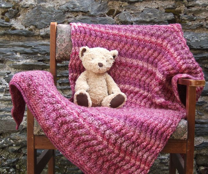 Arenig Handmade Knitted Adult Contemporary Blanket - #5862 | Stall & Craft Collective