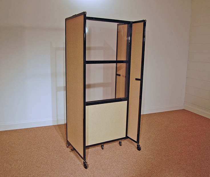 this cool custom room divider 360 was fashioned with windows for a candy tour
