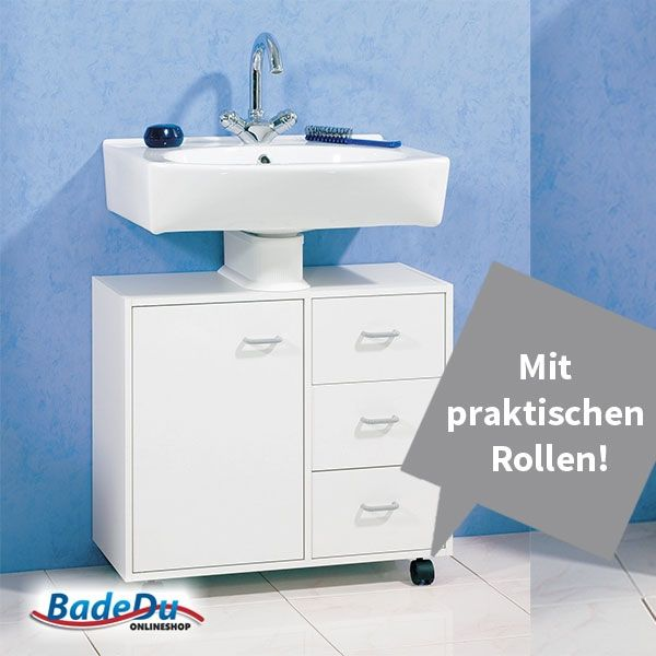 Den kannst du platzieren, wo du willst!  Der Fackelmann-Waschbeckenunterschrank mit Rollen - Serie STANDARD