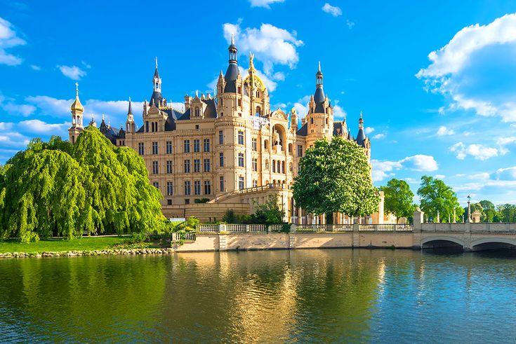 Slottet Schwerin i Tyskland #schwerin #castle #slott #tyskland #germany