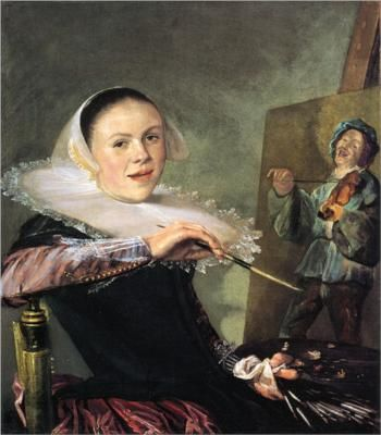 Judith Leyster 1609-1660 Judith Leyster, Self Portrait, c. 1633 Judith Leyster is pretty awesome. Not only was she a female painter during a time period that didn't favor women, she was the first ever female to become a master in a Dutch guild, an incredibly high honor. After studying with Frans Hals, Leyster created this painting, considered by many to be her masterpiece, possibly for entrance into a guild.