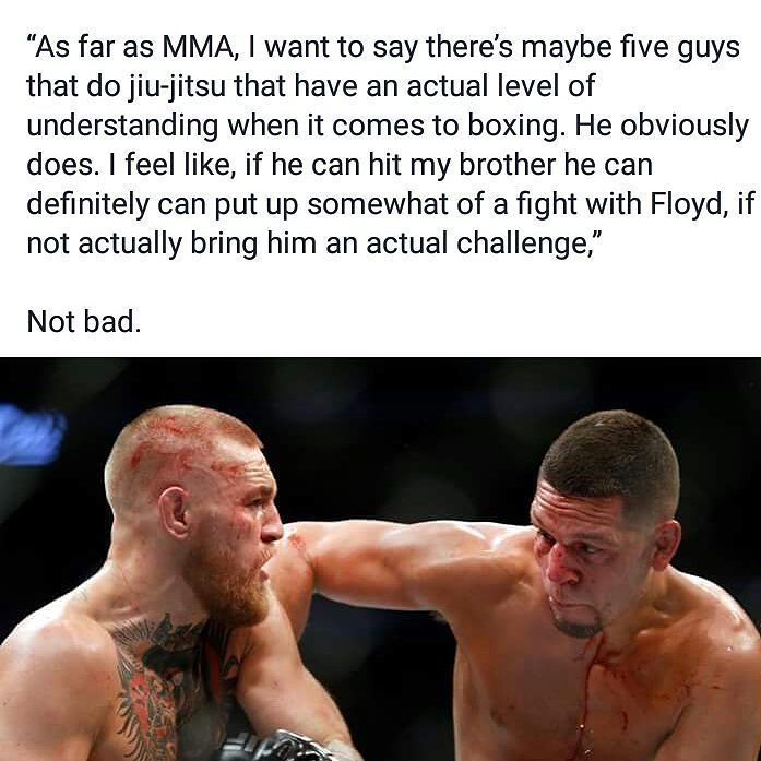 Nick Diaz being a real person as he usually is in discussing what chance Conor McGregor has a games Floyd Mayweather in their upcoming fight August 26th.  Join our Facebook page turn on notifications for us. http://ift.tt/2s8zdbq  #mma news #ufc news #bjj #bjjgirls #love #instagood #mmahypewatch #conormcgregor #rondarousey #ronda rousey #boxing #taekwondo #silat #conor McGregor #wrestling #kickboxing #mma hype watch #tumblr