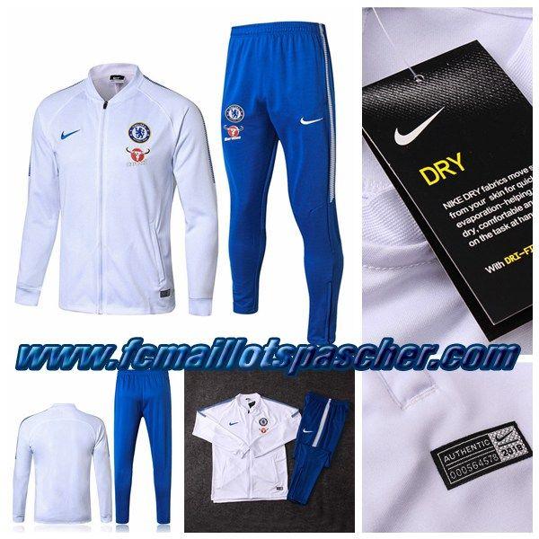 Blanc Nouveau Chelsea Veste Foot Nwxn0pko8z Survetement Nike Fc Training EHIWD29