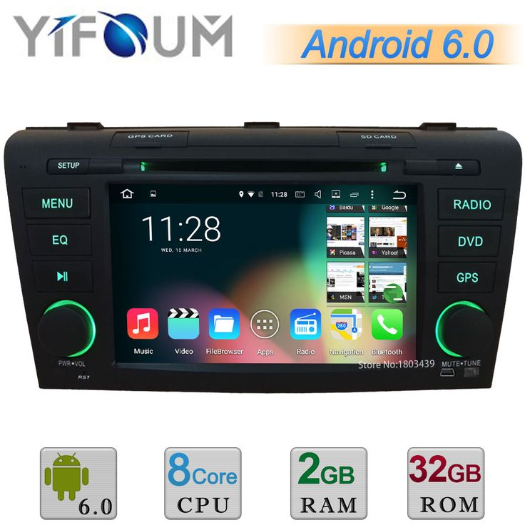 "HD 7"" Android 6.0.1 Octa Core Cortex A53 2GB RAM 32GB ROM Car DVD Multimedia Player Stereo Radio GPS For MAZDA 3 2004-2009 DAB"