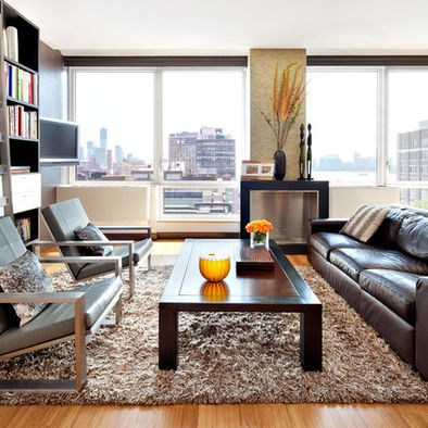 Living Room Dark Brown Leather Couch Design Pictures