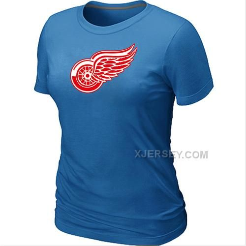 http://www.xjersey.com/nhl-detroit-red-wings-big-tall-womens-logo-lblue-tshirt.html NHL DETROIT RED WINGS BIG & TALL WOMEN'S LOGO L.BLUE T-SHIRT Only $26.00 , Free Shipping!