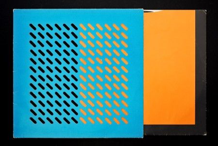 OMD LP cover. The cover was designed by Ben Kelly and Peter Saville for the Dindisc label.