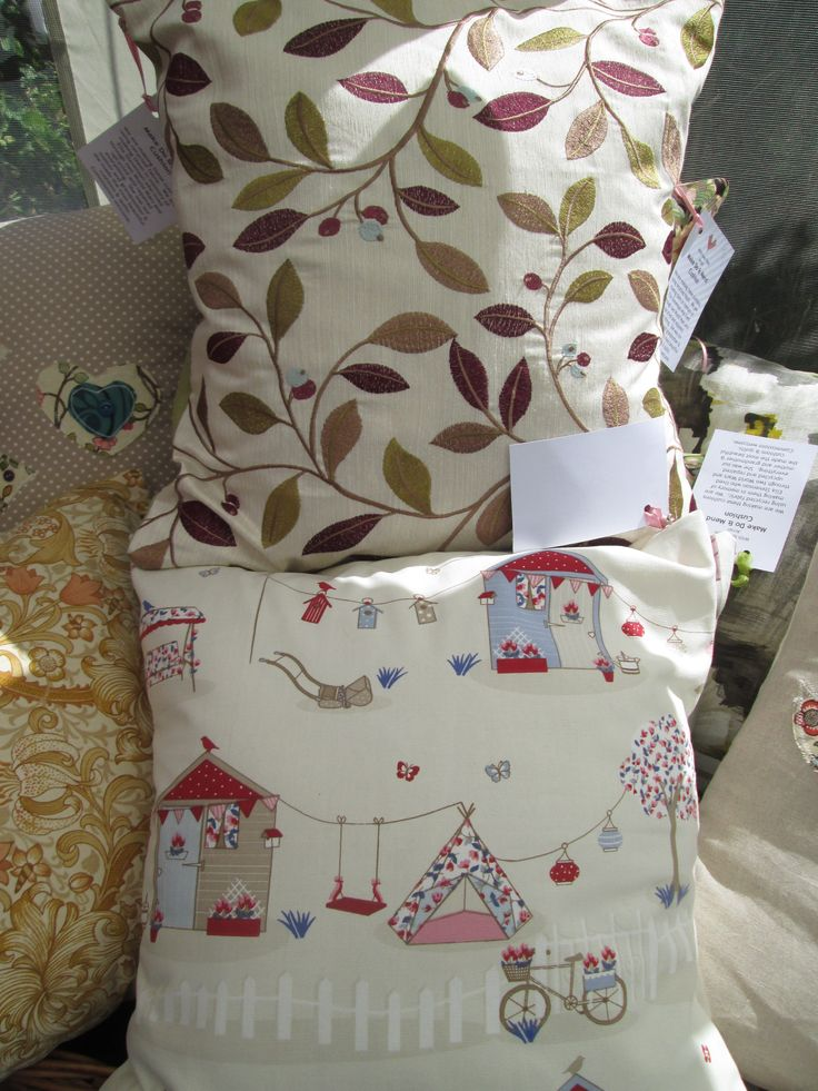 Remnant fabric gets turned into beautiful and unique cushions.  We are about to run a fabric stash amnesty on the island.....what fun!