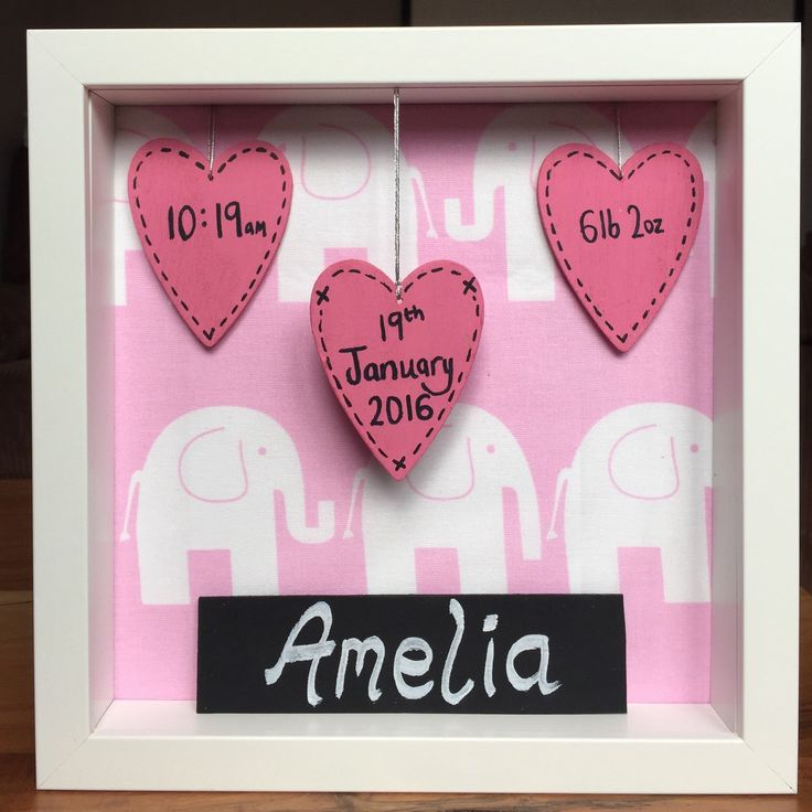 30 best our designs images on pinterest box frames personalised personalised gift for newborn baby girl negle Images