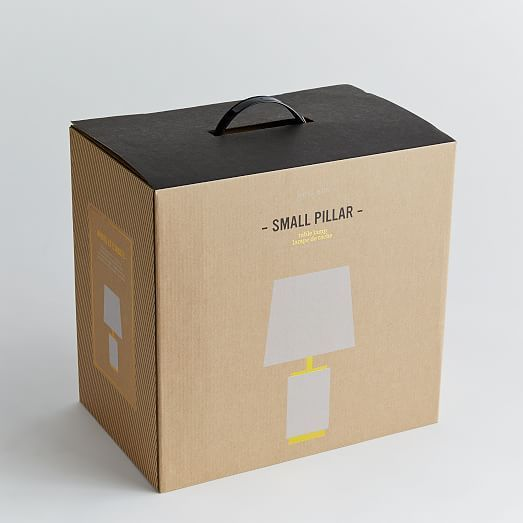 Small Pillar Table Lamp - Marble | west elm