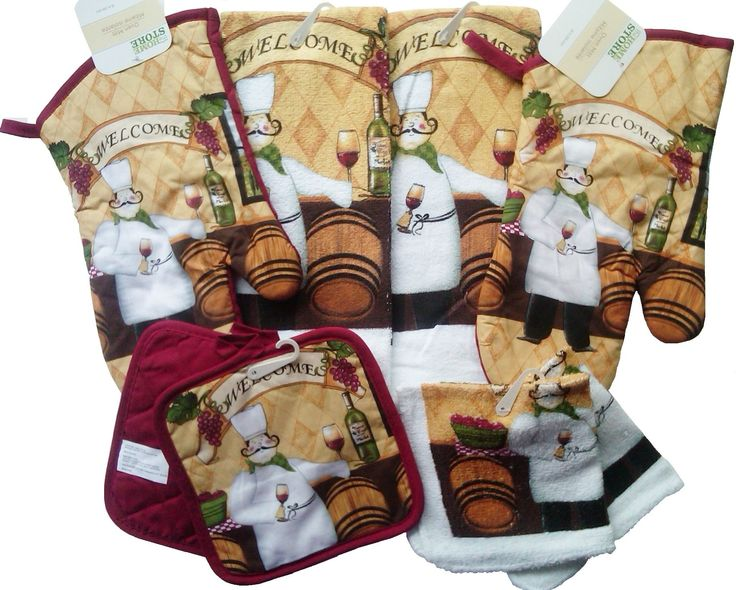 Coordinate Your Kitchen With This Matching 8 Piece Set Of Kitchen Linens In  The Ever Popular