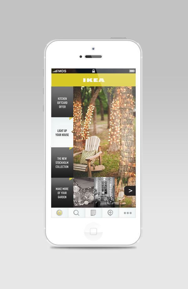 Ikea App Redesign by Emilie Deneuvelaere, via Behance