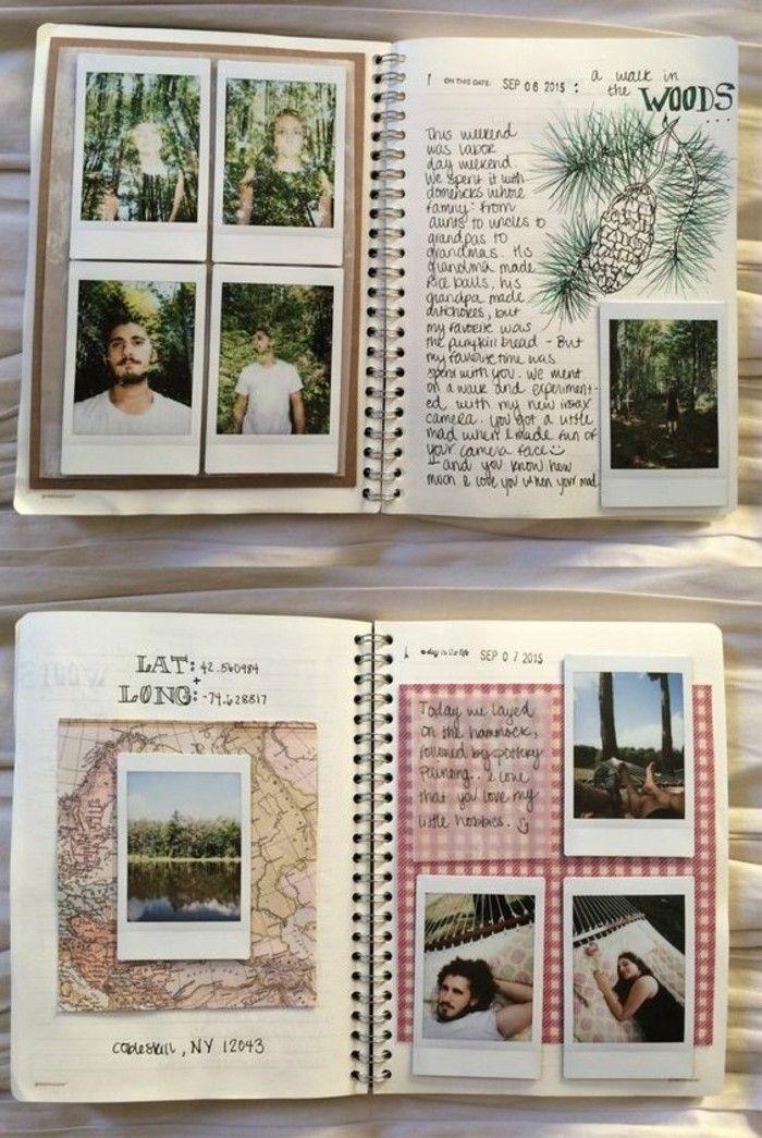 exemple de carnet de voyage, photos dans la forêt