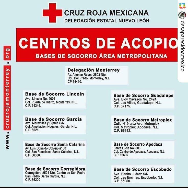 #GPRepost #reposter #regram_app @desaparecidosmexico via @GPRepostApp for Android ------------------ Centros de Acopio  Porfavor manden cualquier foto que tengan de desaparecidos para ayudar a encontrar a que se comunican con su familia!  #México #desaparecidosenmexico #desaparecidos #desaparecido #desaparecida #oremospormexico #ciudaddemexico #terremoto #temblor #mexicodf #cdmx #cruzroja #centrosdeacopio