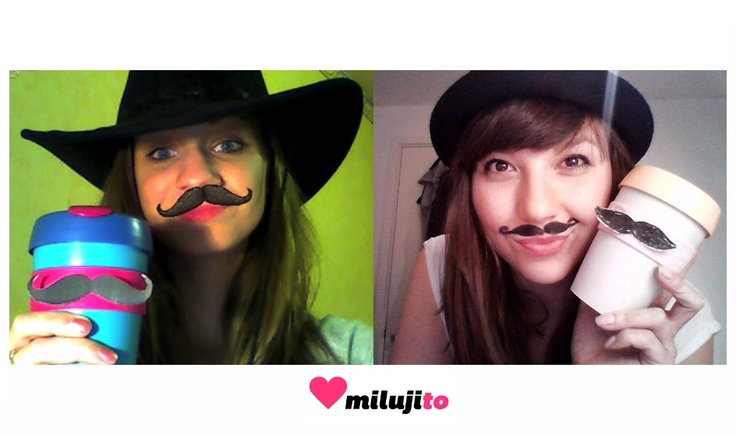 Movember a KCnír s kníratými KeepCupy, Praha - Londýn :-)