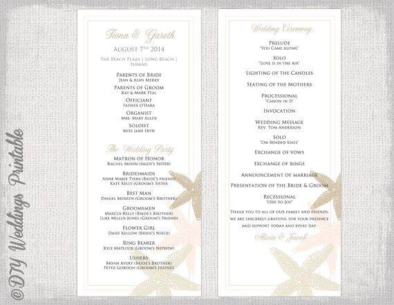 Best 25+ Wedding program template free ideas on Pinterest - wedding brochure template
