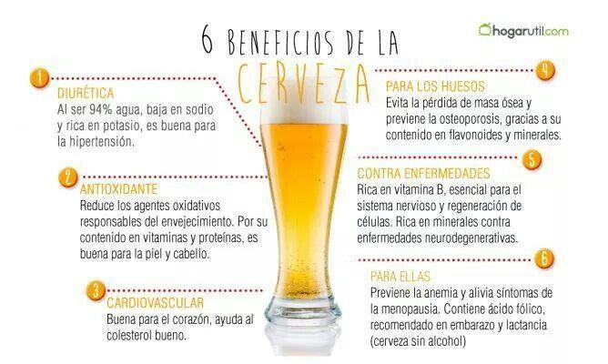 Cerveza, beneficios
