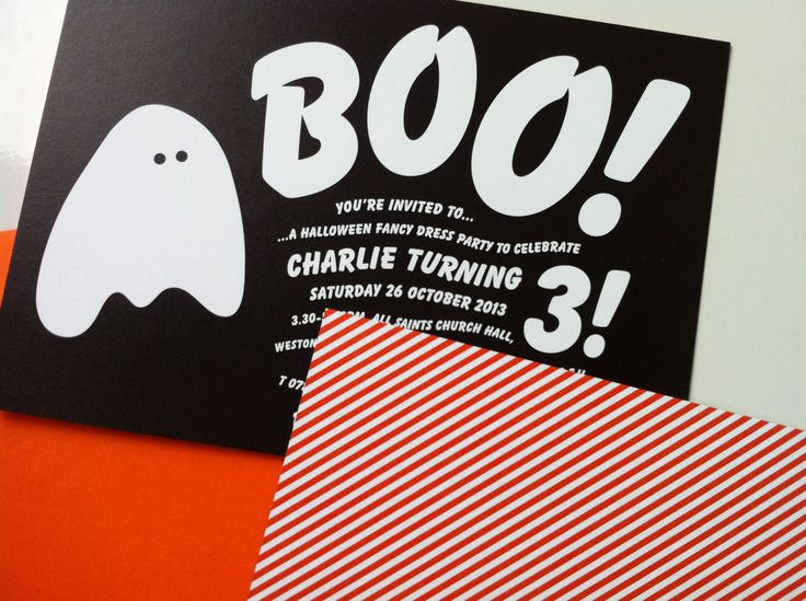Halloween party! Invitation by Bureau Design www.bureaudesign.co.uk  #partyinvitation #childrensparty #bureaudesign