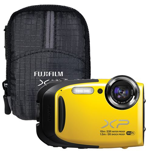 Fuji Finepix XP70 Waterproof/Shockproof 16.4MP 5X Optical Zoom Digital Camera With Case - Yellow Needed for all those memories #SetMeUpBBY