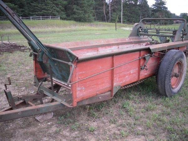 New Idea manure spreader model 12A. Thing of beauty. Wait