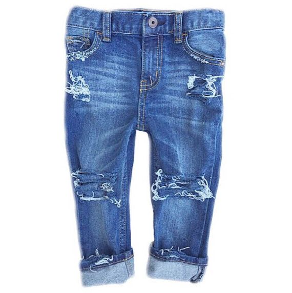 The Farm Fresh Originals are distressed by hand for your little one. It was our first design and is still our best seller and all-time favorite! Perfect for boys and girls...there isnt an article of clothing that cant be paired with these versatile jeans. The Farm Fresh Originals are now in the closets of stylish kids around the world!  Available in sizes 6M-5T (infant/toddler) and sizes 6-12 (kids). All denim used is new, skinny fit, and has an adjustable waistband. Distressing will be as…