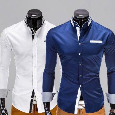 Herren-Hemd mit Stehkragen