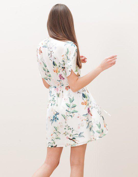 Floral Dress - Stradivarius
