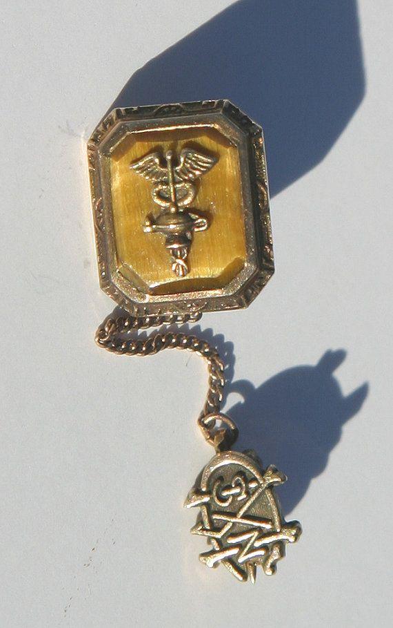 Antique Vintage 1935 Mount Carmel School of Nursing rare 10K Yellow Gold by SeaGlassPrimitives, $69.00