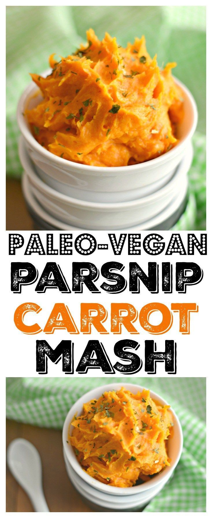 This Parsnip Carrot Mash is a healthy Paleo & Vegan friendly twist on traditional mashed potatoes. A delicious and easy to make side perfect to pair with any protein! Paleo + Vegan + Gluten Free + Low Calorie