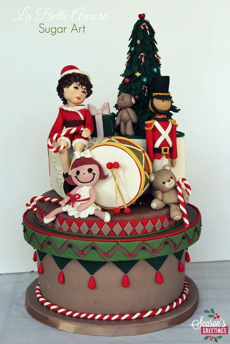 Christmas Cake - by LaBelleAurore @ CakesDecor.com - cake decorating website