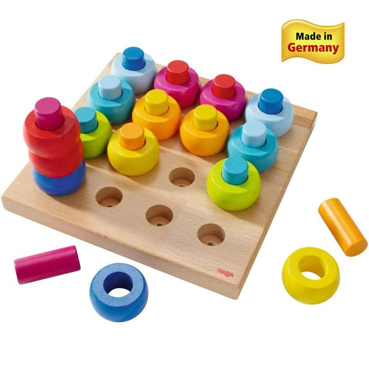 HABA Rainbow Whirls Pegging Game