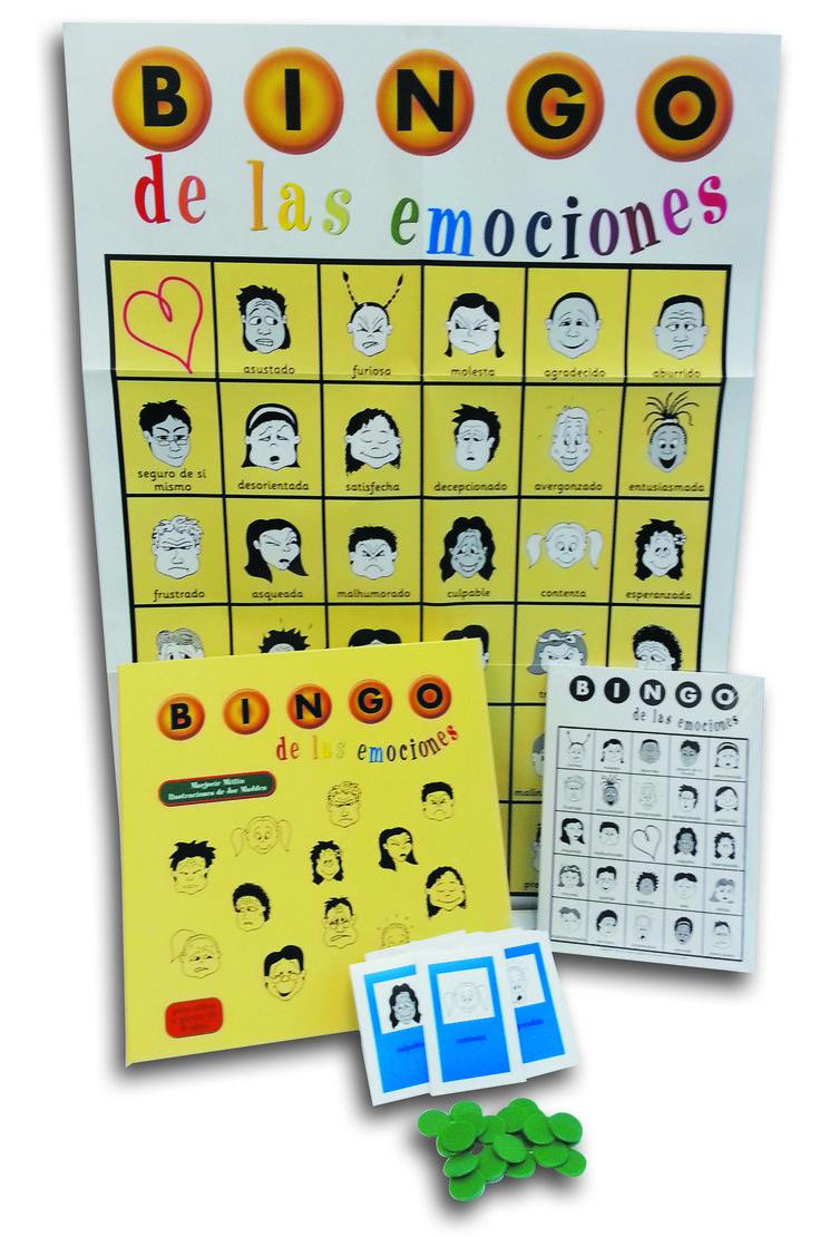 - EL BINGO DE LAS EMOCIONES- El bingo es un juego muy popular que resulta divertido para los jugadores. En este caso los jugadores no han de identificar números en los cartones sino emociones. El Bingo de las emociones es una herramienta muy útil para psicólogos, orientadores, pedagogos y tutores a fin de ayudar a los niños a desarrollar una actitud sana frente a las emociones, algo que hoy se considera de gran relevancia en educación.