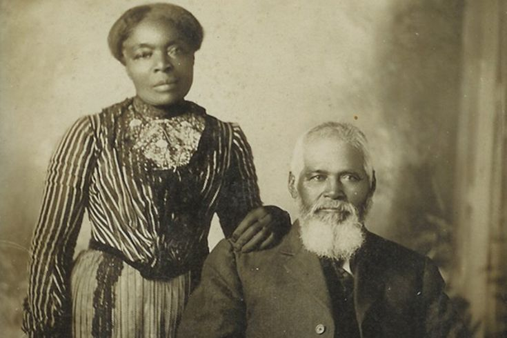 Black Mormon Documentary Samuel and Amanda Chambers. Sam was baptized into the LDS Church while still a slave in 1844. His first wife was sold off and he married Amanda Leggroan. They came to Utah in 1870, after they were freed by the Civil War. (Courtesy of Documentary Channel)