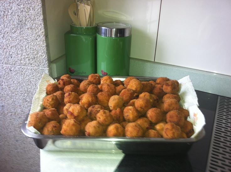 Croquetas de chouriço e queijo 'Arzúa-Ulloa'.