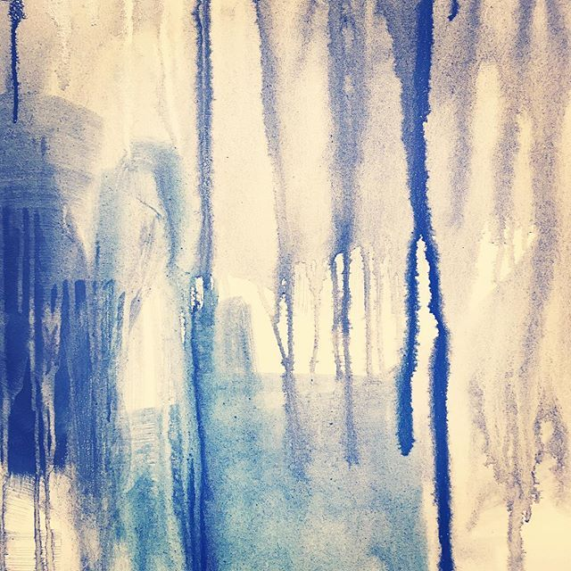 There's just so much magic in the drips   Detail of a work in progress.
