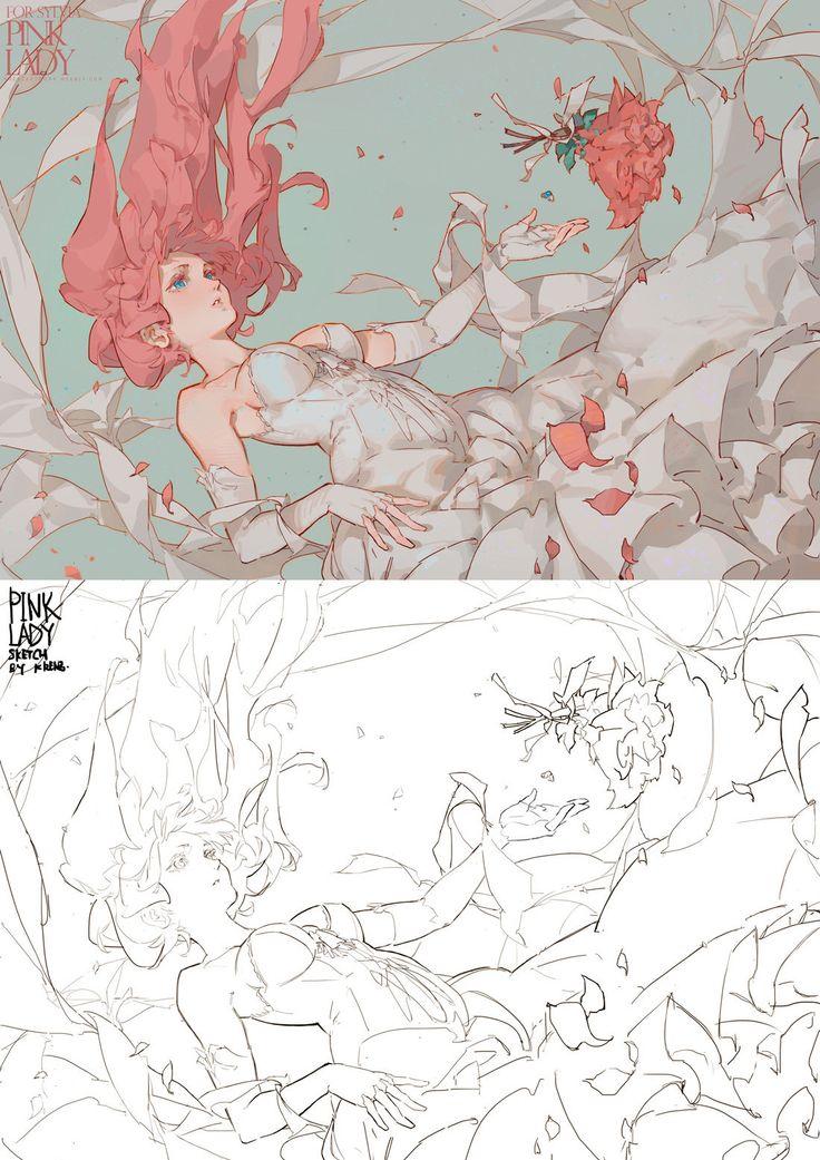 PINKLADY, Krenz Cushart on ArtStation at https://www.artstation.com/artwork/pinklady