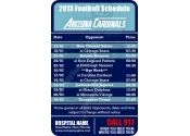 $0.12 3.5x2.25 in One Team Arizona Cardinals Football Schedule