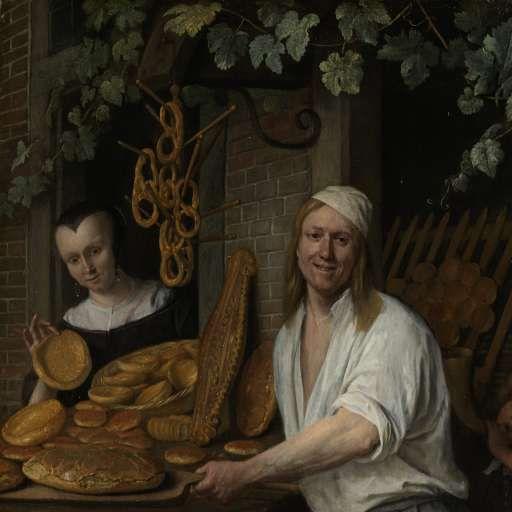 The Baker Arent Oostwaard and his Wife, Catharina Keizerswaard, Jan Havicksz. Steen, 1658 - Search - Rijksmuseum