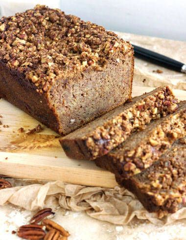 Gluten Free, Paleo Banana Bread with Pecans - Food Faith Fitness