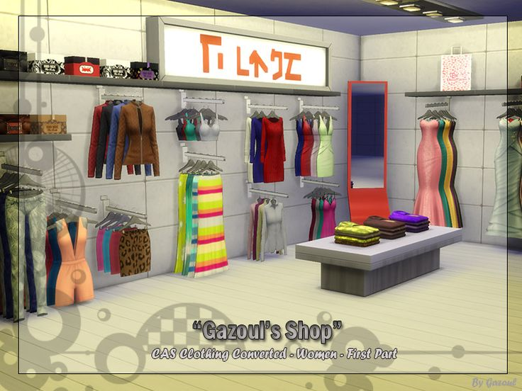 the sims 4 gazoul clothes shop pt 1 buy mode deco. Black Bedroom Furniture Sets. Home Design Ideas