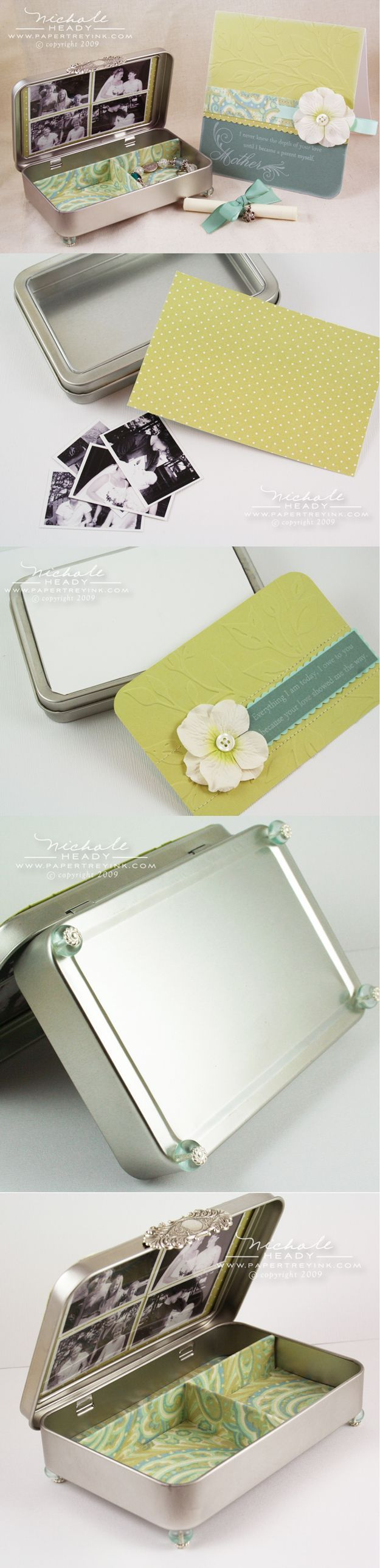 Easy DIY Jewelry Box   Cheap Personalized DIY Mother's Day Gift by DIY Ready at  http://diyready.com/diy-gifts-mothers-day-ideas/