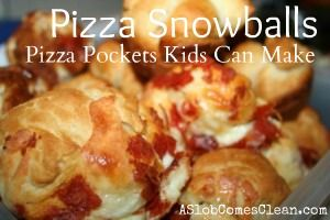Pizza Snowballs from A Slob Comes Clean: Cans Biscuits, Pizza Pockets, Muffins Tins, Recipes, Pizza Snowballslook, Pizza Snowball Looks, Fun, Kids, Pizza Snowballs Looks