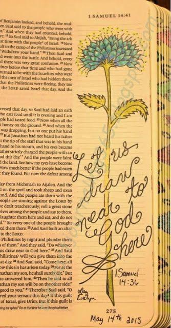 Easy Bible Art Journaling Journey: 1 Samuel 14:36 (May 14th)